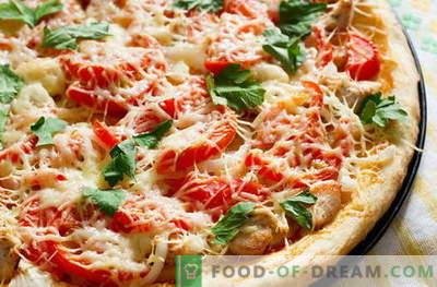 Pizza al pollo - le migliori ricette. Come cucinare correttamente e gustoso la pizza con il pollo.