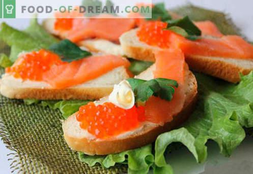 I panini con il caviale rosso sono le migliori ricette. Come cucinare velocemente e gustosi panini con il caviale rosso.