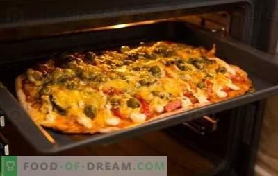 La ricetta della pizza nel forno è un piatto preferito a casa. Ricette pizza al forno: con formaggio, funghi, prosciutto, frutti di mare