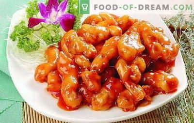 Carne fragrante e succosa in salsa dolce in cinese. Ricette originali per diversi tipi di carne in salsa dolce in cinese