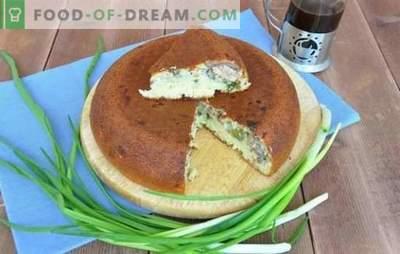 Torte aperte, chiuse e sfuse con cipolle e uova in pentola a cottura lenta. Torta con cipolle e uova in una pentola a cottura lenta - salvezza dalla fame!