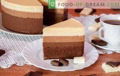 Tre torte al cioccolato: una ricetta per i buongustai più raffinati.