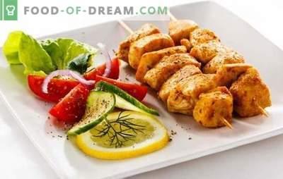 Shashlik di filetto di pollo - una gustosa versione economica di una festa in natura. Le migliori ricette per il kebab di pollo