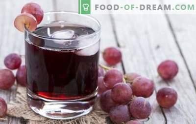 Viinamarjamahl kodus kodus: kuidas seda õigesti teha? Parimad viinamarjamahla retseptid talvel pannilt või mahlapressist