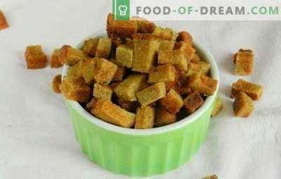 Cracker con aglio - una geniale invenzione di cucina parsimoniosa! Ricette antipasti senza pari e piatti di pane raffermo
