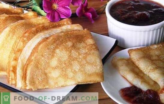 I pancake alla crema con latte sono solo un miracolo! Ricette e opzioni di servizio per pancake con crema di latte