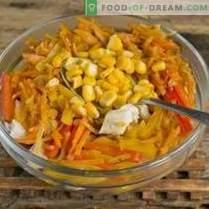 Salade aux haricots rouges et au poulet