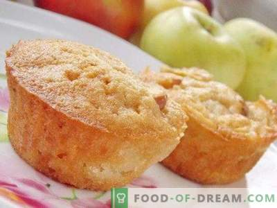 Mannik on kefir with apples