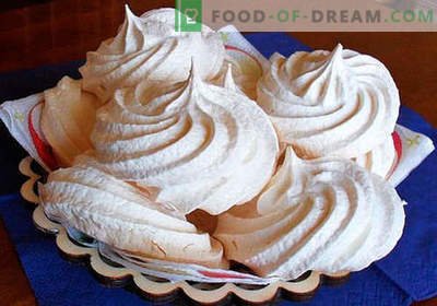 Meringue - the best recipes. How to properly and tasty cook homemade meringues.