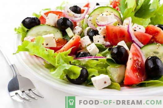 Insalata greca - le migliori ricette. Come cucinare correttamente e gustosa insalata greca