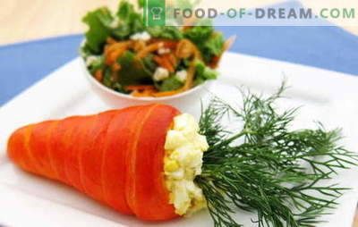 Sallad från morötter och ägg - en kombination av smak och nytta. De bästa recepten för morötter och ägg: enkelt, original och puff