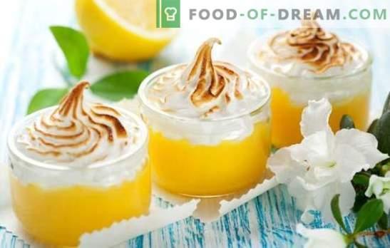 Meringa al limone - tenera meringa, deliziosa crema e agrumi. Ricette e segreti per cucinare deliziose meringhe al limone