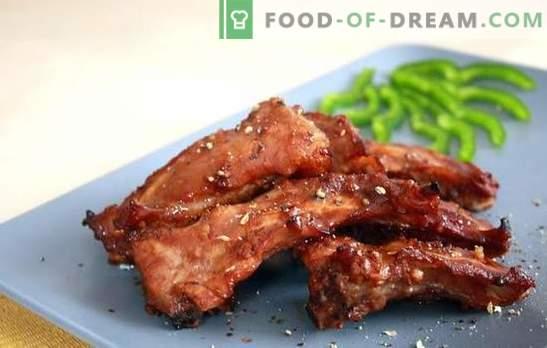 Costine di maiale in un fornello lento - uno spuntino aromatico e un piatto completo. Ricette di costolette di maiale fritte e stufate in una pentola a cottura lenta