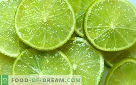 Wapno - przydatne właściwości, użyj w gotowaniu. Przepisy z limonką.