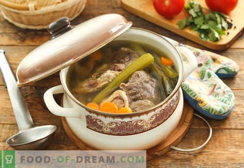 Zuppa in brodo di carne - le migliori ricette. Come cucinare correttamente e gustoso zuppa in brodo di carne.