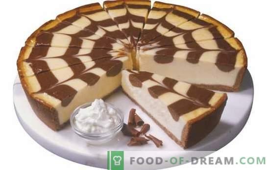 Zebra pie su kefir: come cuocerlo? Cucinare la torta