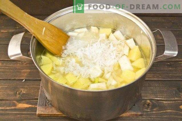 Zuppa di crema di spinaci e cocco