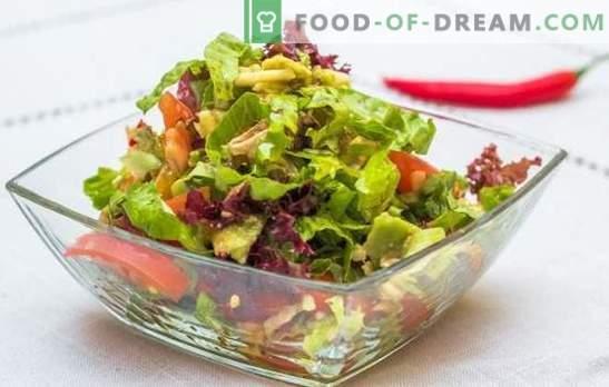 Insalate veloci e veloci: opzioni deliziose. Ricette insalate raffinate e veloci - in fretta per le vacanze e la vita di tutti i giorni