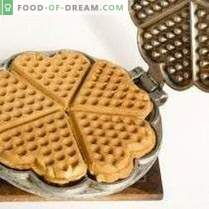 Waffle viennesi con zucchero di canna