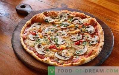 Pizza con carne macinata e funghi: ricette tradizionali e originali. Pizza fatta in casa con carne macinata e funghi - le migliori opzioni
