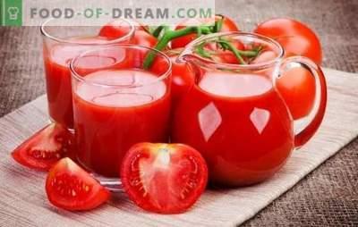 Produciamo il succo di pomodoro a casa: naturale, con verdure, mele o spezie. Metodi di produzione di succo di pomodoro per l'inverno a casa