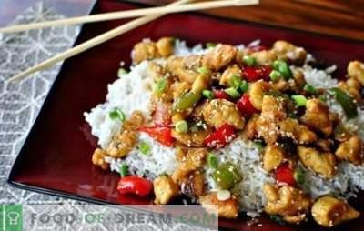 Un po 'di fantasia: il filetto di pollo con riso è più delizioso delle prelibatezze. Piatti leggeri di filetto di pollo con riso e panna acida, fagioli e funghi