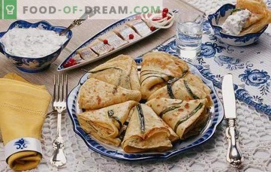 Pancakes con cipolle e uova - devi cucinare molto! Ricette di diversi pancakes con cipolle verdi e uova, con zucchero e con ripieni