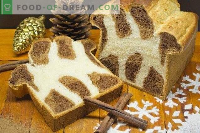 brioche di leopardo - pane dolce per Natale