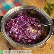 Zuppa di cavolo rosso vegetariano