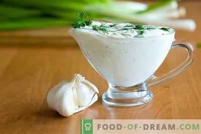 Baltā mērce - labākās receptes. Kā pareizi un garšīgi pagatavot baltu mērci.