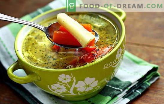 Zuppa di verdure magra - per vegetariani e il digiuno. Ricette che cucinano zuppa di verdure magre