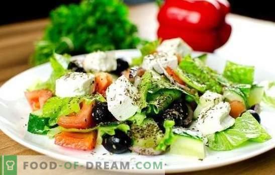 Insalata greca: ricette classiche e graduali. Cucinare un'insalata greca deliziosa, sana e fresca secondo le classiche ricette