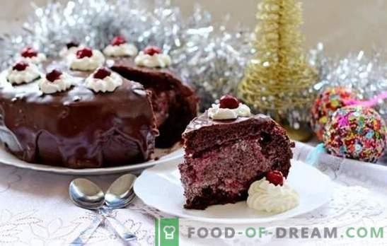 Torta al cioccolato con ciliegia - nessun commento! Ricette d'autore: improvvisazione sul tema della torta al cioccolato con ciliegia