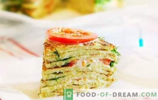 Torta di zucchine: veloce e gustosa. Ricette veloci di deliziose torte di zucchine con verdure, formaggio, funghi, carne