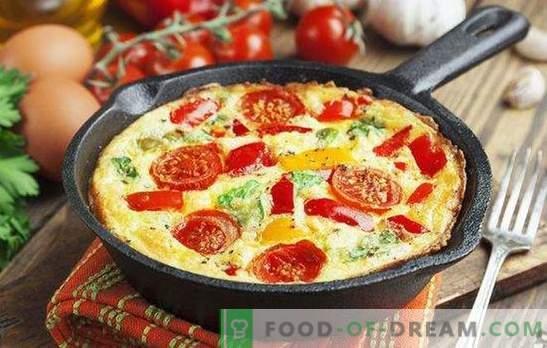 Omelet cu legume - mic dejun luminos și sănătos. Cum să gătești o omletă cu legume într-o tavă, într-o aragaz lent, cuptor și cuptor cu microunde