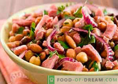 Insalata con fagioli e prosciutto - le migliori ricette. Come cucinare correttamente e gustoso un'insalata di fagioli con prosciutto.