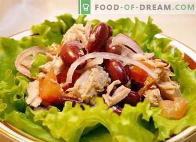 Insalata con pollo e fagioli - le migliori ricette. Come correttamente e gustoso per preparare un'insalata di pollo e fagioli.