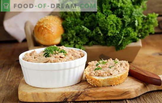 Patè di pollo a casa: fatto semplicemente, mangiato velocemente! Le migliori ricette per paste di pollo fatte in casa