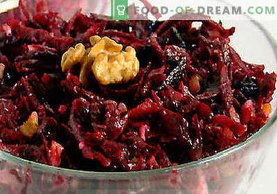 Virti burokėlių salotos - geriausių receptų pasirinkimas. Kaip tinkamai ir skaniai virti virtų burokėlių salotos.