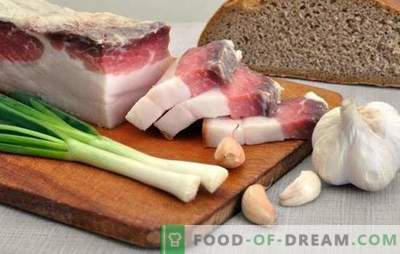 Come mettere sott'aceto la pancetta con l'aglio: il successo - nella scelta delle giuste materie prime. Ricette semplici e complesse per la salatura di pancetta con aglio