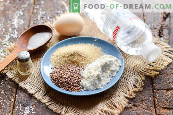 Deliziose frittelle di crusca d'avena con semi di lino
