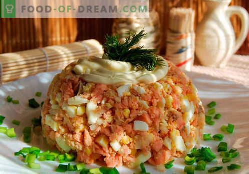insalata gobbo - ricette collaudate. Come cucinare un'insalata di salmone rosa.