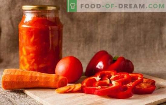 Riscalderà il freddo e aggiungerà una scintilla: adjika di pomodori e peperoni per l'inverno. Ricette tradizionali e insolite adjika di pomodori e peperoni per l'inverno