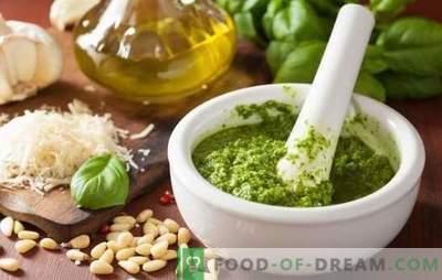 Salsa di pesto fatta in casa - apri il segreto del gusto segreto! Ricette per fare il pesto con basilico a casa