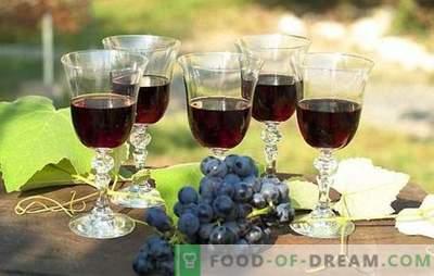 Vino nero d'uva: preparazione di materie prime e tecnologia di preparazione. Ricette vino fatto in casa da uve nere