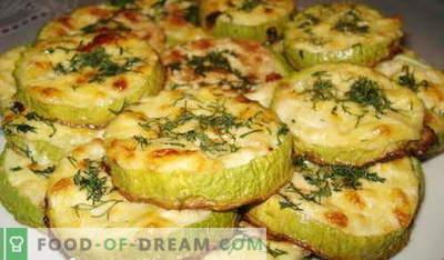 Zucchine cotte nel forno - le migliori ricette. Come cucinare correttamente e gustoso zucchine al forno.
