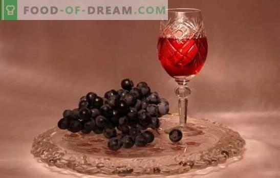 Vynuogių tinktūra namuose nėra vynas! Kvapnios ir ryškios vynuogių tinktūros receptai namuose