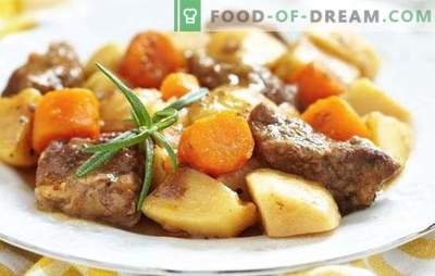 Patate con carne in padella - ricette passo-passo per cibo delizioso. Cucina di famiglia: patate con carne in una casseruola con ricette passo-passo