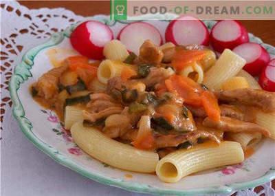 Noodles in slow cooker - le migliori ricette. Come cucinare correttamente e gustosi spaghetti in un fornello lento a casa.