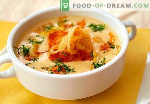 Zuppa di crema di formaggio - le migliori ricette. Come cucinare correttamente e gustoso zuppa di formaggio.